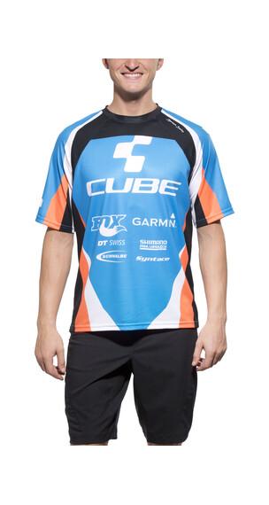 Cube Action Team Signatur Rundhals kurz Men blue'n'white'n'black